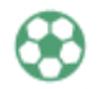【消せるスタンプ】 フリクションスタンプ (サッカー インクグリーン)