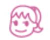 【消せるスタンプ】 フリクションスタンプ (女の子 インクピンク)