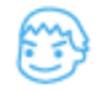 【消せるスタンプ】 フリクションスタンプ (男の子 インクライトブルー)