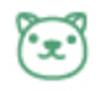【消せるスタンプ】 フリクションスタンプ (いぬ インクグリーン)