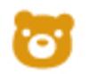 【消せるスタンプ】 フリクションスタンプ (くま インクオレンジ)