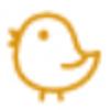 【消せるスタンプ】 フリクションスタンプ (ひよこ インクオレンジ)