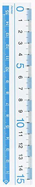 【学童用品 定規】 見やすい定規 AJR125A (15cm)