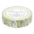 【マスキングテープ】 プチジョアマスキングテープ 花とミツバチ(イエロー×パープル)
