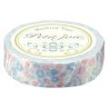 【マスキングテープ】 プチジョアマスキングテープ  花とミツバチ(ピンク×ブルー)