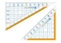 【学童用品 定規】 nanopita三角定規ナノピタキッズ SK−7881 (10cm)