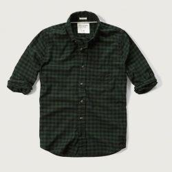 アバクロ チェック柄シャツ