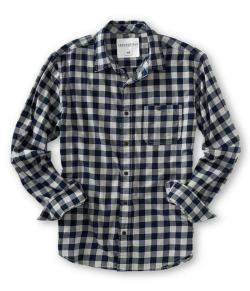 エアロポステール:チェック柄シャツ