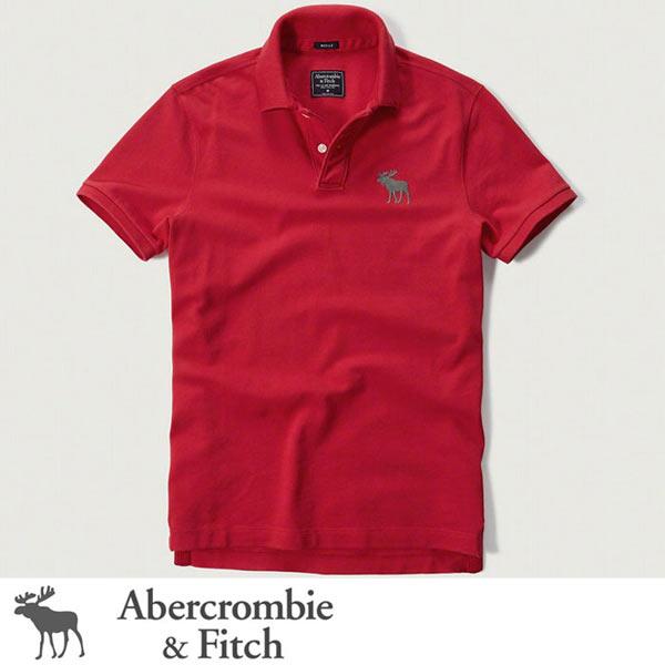 アバクロ Abercrombie&Fitch アバクロンビー&フィッチ ポロシャツ:BIG Icon Polo - Red