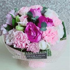 母の日 フレグランスブーケ 母の日に甘い香りのバラの花束 そのまま飾れるスタンディングブーケ