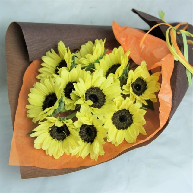 ひまわり10本花束