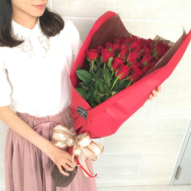 赤バラの花束40本 イメージ2