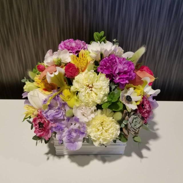 【送料無料】 御祝アレンジメント<おまかせ・紫・10,000円>