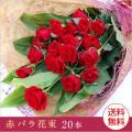 【送料無料】赤バラ花束20本 産直 薔薇花束 誕生日・結婚記念日・お祝い・クリスマスプレゼント