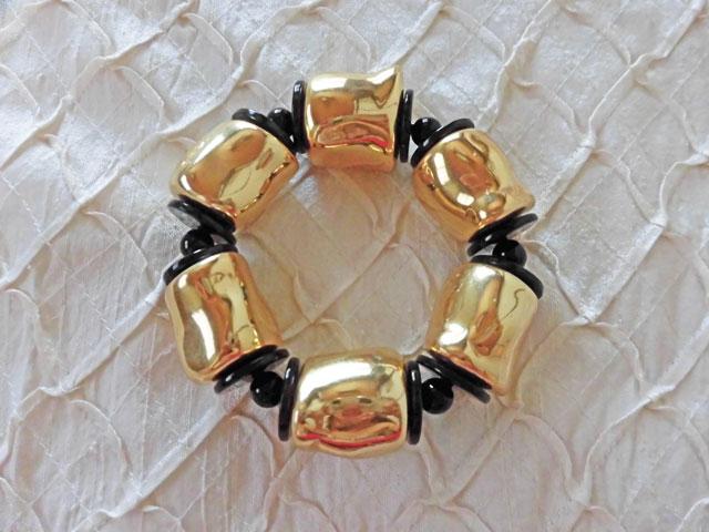 アンジェラ、ヌガーストレッチブレスレット BL6004-GD ゴールド