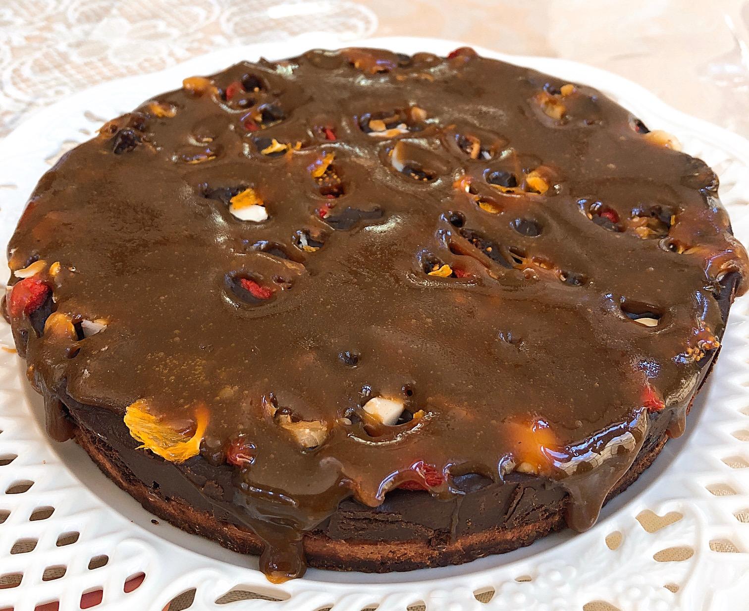 ≪Rawケーキ≫ラ・レコルト/実りの秋 (リッチ チョコレートケーキ&オリジナル生キャラメルかけ)18cmホール