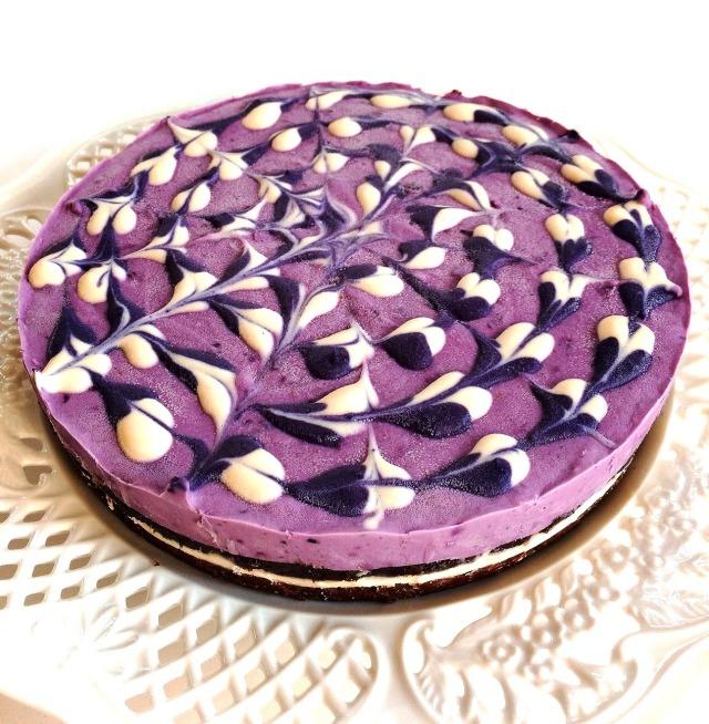 濃厚ブルーベリー チーズケーキ <ロースイーツ> 18cmホール
