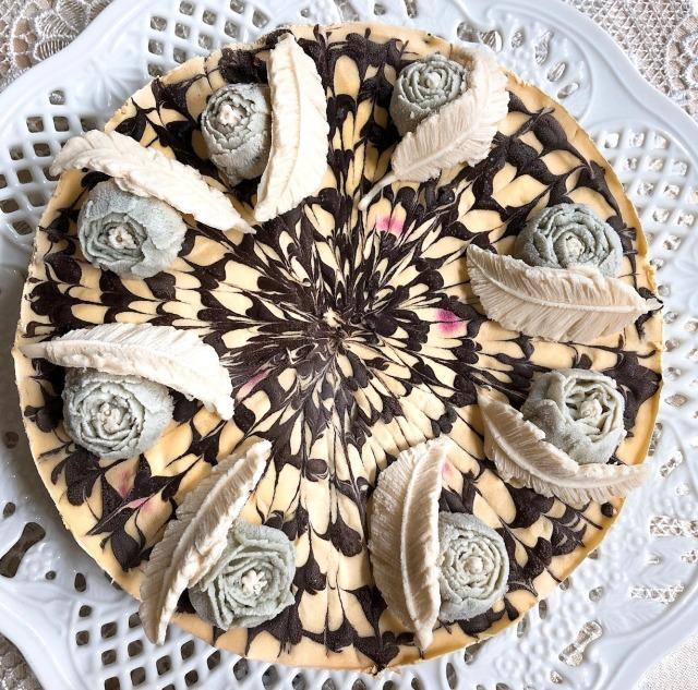 ≪Rawフラワーケーキ≫ モントレゾー/私の宝物 (マンゴーケーキwithトロピカルフルーツ味)18cmホール