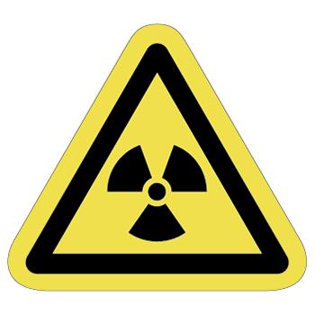 放射線注意ラベルT-08-Mの画像