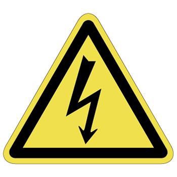 感電注意ラベルT-01-Lの画像