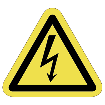 感電注意ラベルT-01-Mの画像