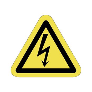 感電注意ラベルT-01-Sの画像