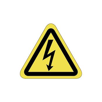 感電注意ラベルT-01-SSの画像