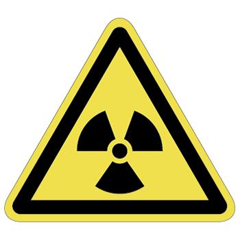 放射線注意ラベルT-08-Lの画像