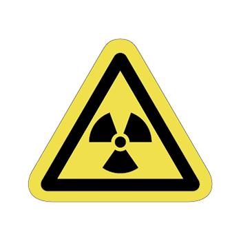 放射線注意ラベルT-08-Sの画像