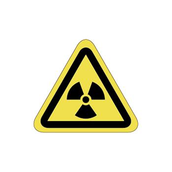 放射線注意ラベルT-08-SSの画像
