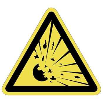 爆発、破裂注意ラベルT-09-Lの画像