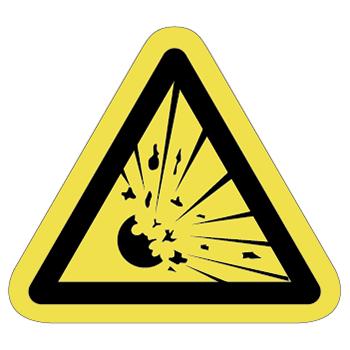 爆発、破裂注意ラベルT-09-Mの画像