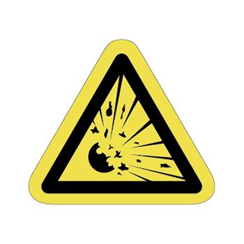 爆発、破裂注意ラベルT-09-Sの画像