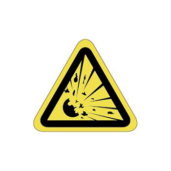 爆発、破裂注意ラベルT-09-SSの画像