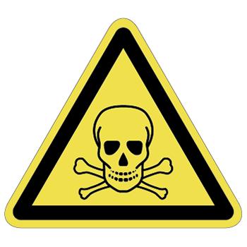 毒物注意ラベルT-12-Lの画像