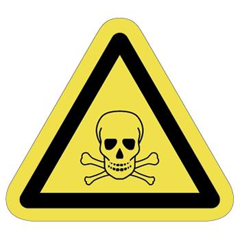 毒物注意ラベルT-12-Mの画像