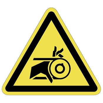ベルト巻込み注意ラベルT-15-Lの画像
