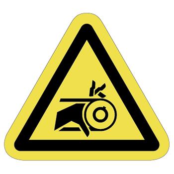 ベルト巻込み注意ラベルT-15-Mの画像