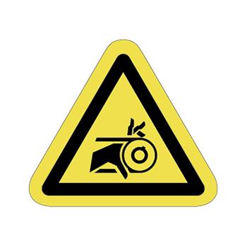 ベルト巻込み注意ラベルT-15-Sの画像