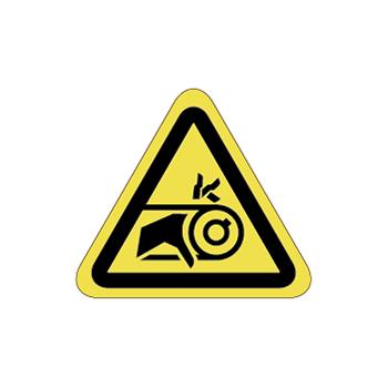 ベルト巻込み注意ラベルT-15-SSの画像