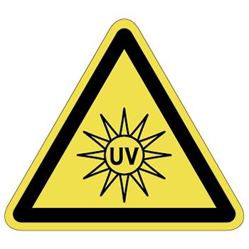 紫外線注意ラベルT-23-Lの画像