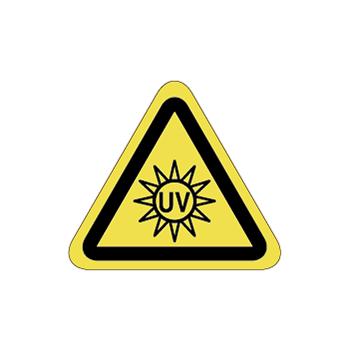 紫外線注意ラベルT-23-SSの画像