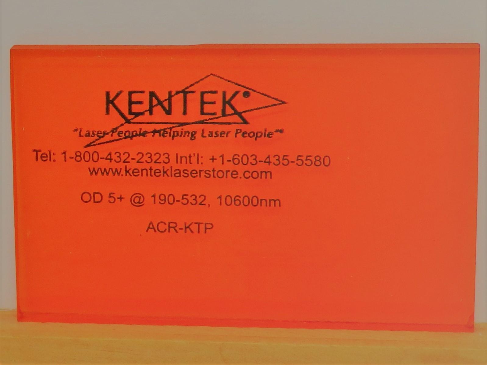 レーザー保護ウィンドウ  ACR-KTPA     オレンジ 55%VLT YAG二倍波