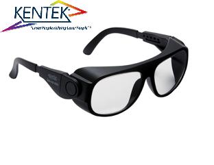 レーザー保護メガネ KBS-5161 ユニバーサルフィット (1064nm YAG基本波用) ライトグレー 可視光透過率60%