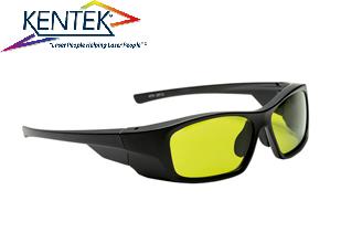 レーザー保護メガネ KMZ-5151 スタイリッシュ (1064nm YAG基本波用) ライトグリーン 可視光透過率43%
