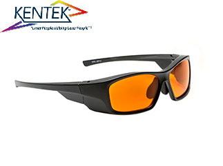 レーザー保護メガネ KMZ-5301 スタイリッシュ (532nm KTP YAG 二倍波用) オレンジ 可視光透過率 50%