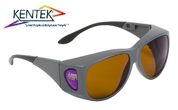 レーザー保護メガネ KXL-6401 オーバーフィット (スーパーマルチ) ダークオレンジ  可視光透過率 19%