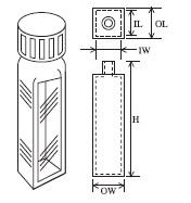 スクリューキャップ付蛍光セル(全面透明) T-43-ES-10