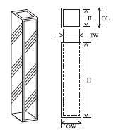 小型蛍光セル(全面透明) T-507-ES-3