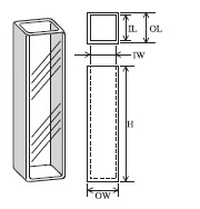 超高低温用標準セル(2面透明) T-64-ES-10
